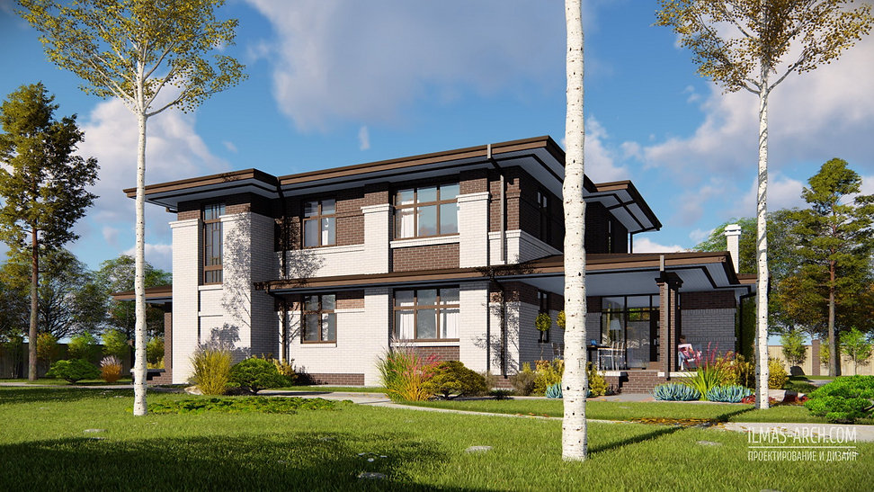 Проект дома в стиле Прерий, Райта