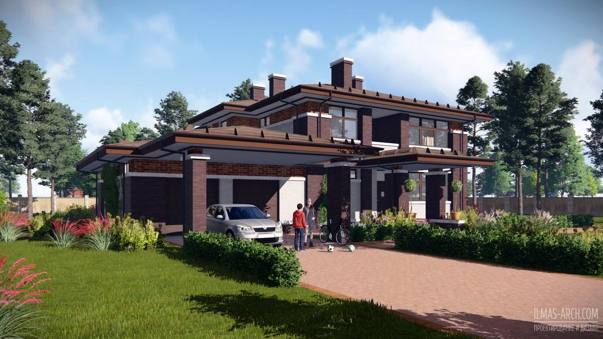 Проект дома в стиле Райта, прерий