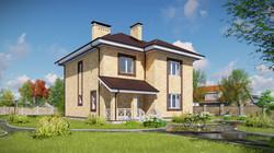 Проект двухэтажного дома 2