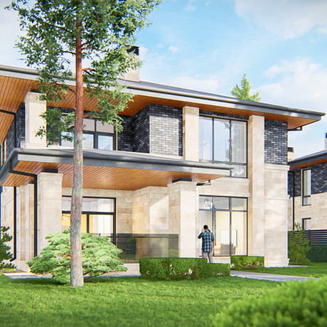 Дом в стиле Прерий на 300-350 кв.м