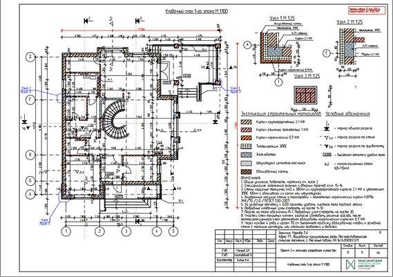 Кладочный план дома этажа