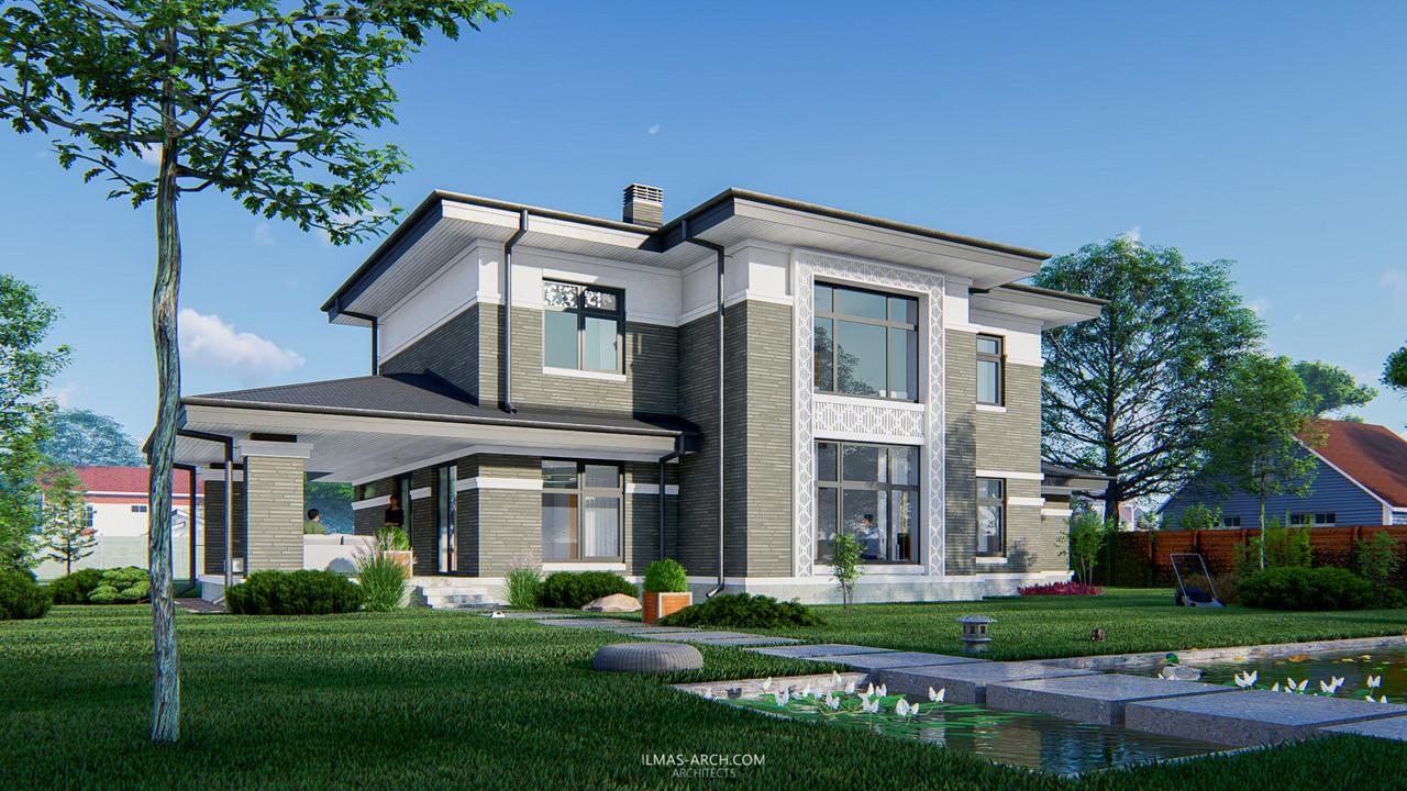 Дом в стиле прерий в г. Смоленск
