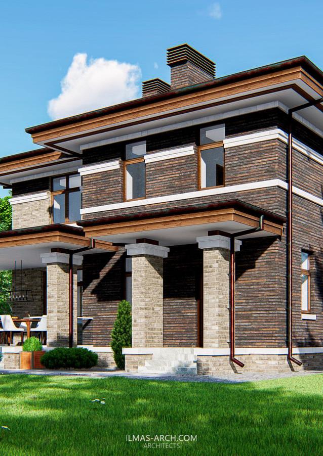 Дом в стиле Райта