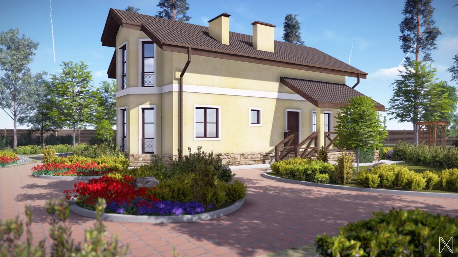 Проект бюджетного дома 2