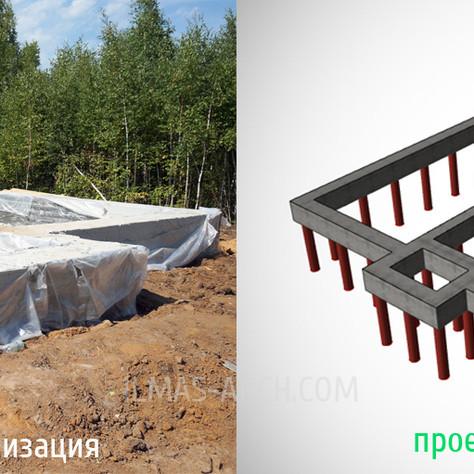 Построили фундамент в поселке Салмычи (Казань)
