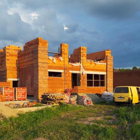 Строительство дома в стиле Райта в Подмосковье. Часть 1