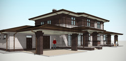 Проект дома в стиле прерий Райта
