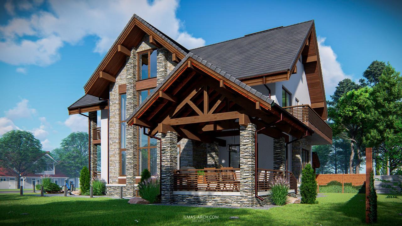 Дом в стиле шале