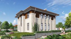 Проект дома в стиле Райта на 170 кв