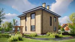Проект двухэтажного дома 3