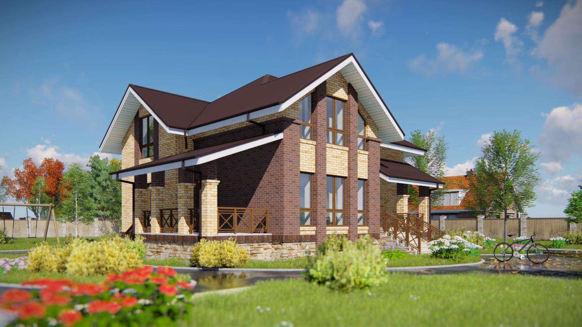 Проект дома с мансардой 2