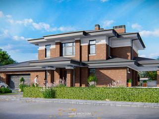 Загородный дом с гаражом и террасой на 285 кв.м