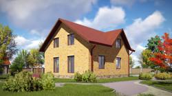 проект  мансардного дома 4