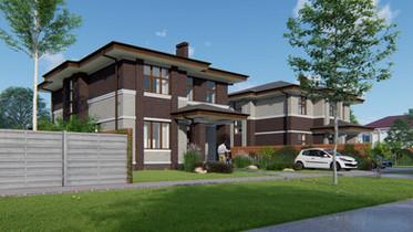 Дом в стиле прерий 210 кв.м