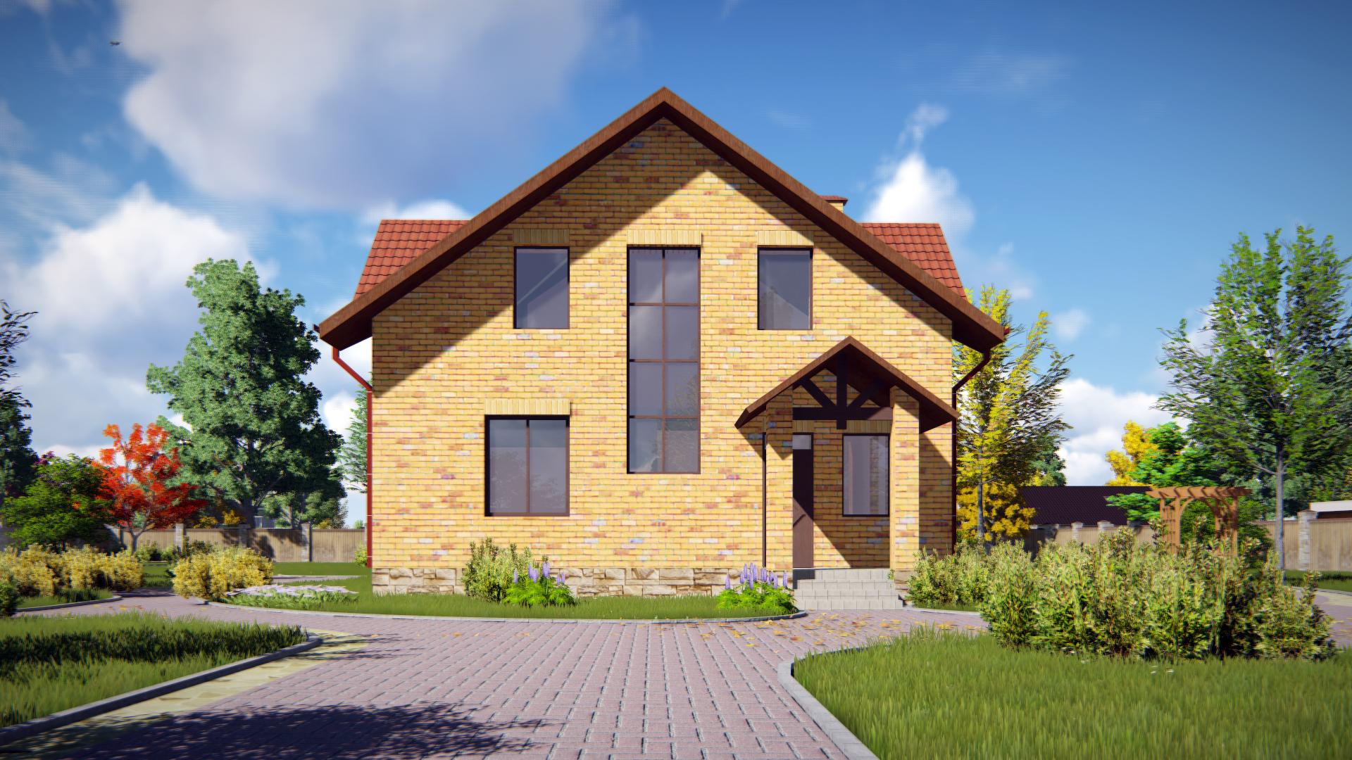 проект  мансардного дома 3