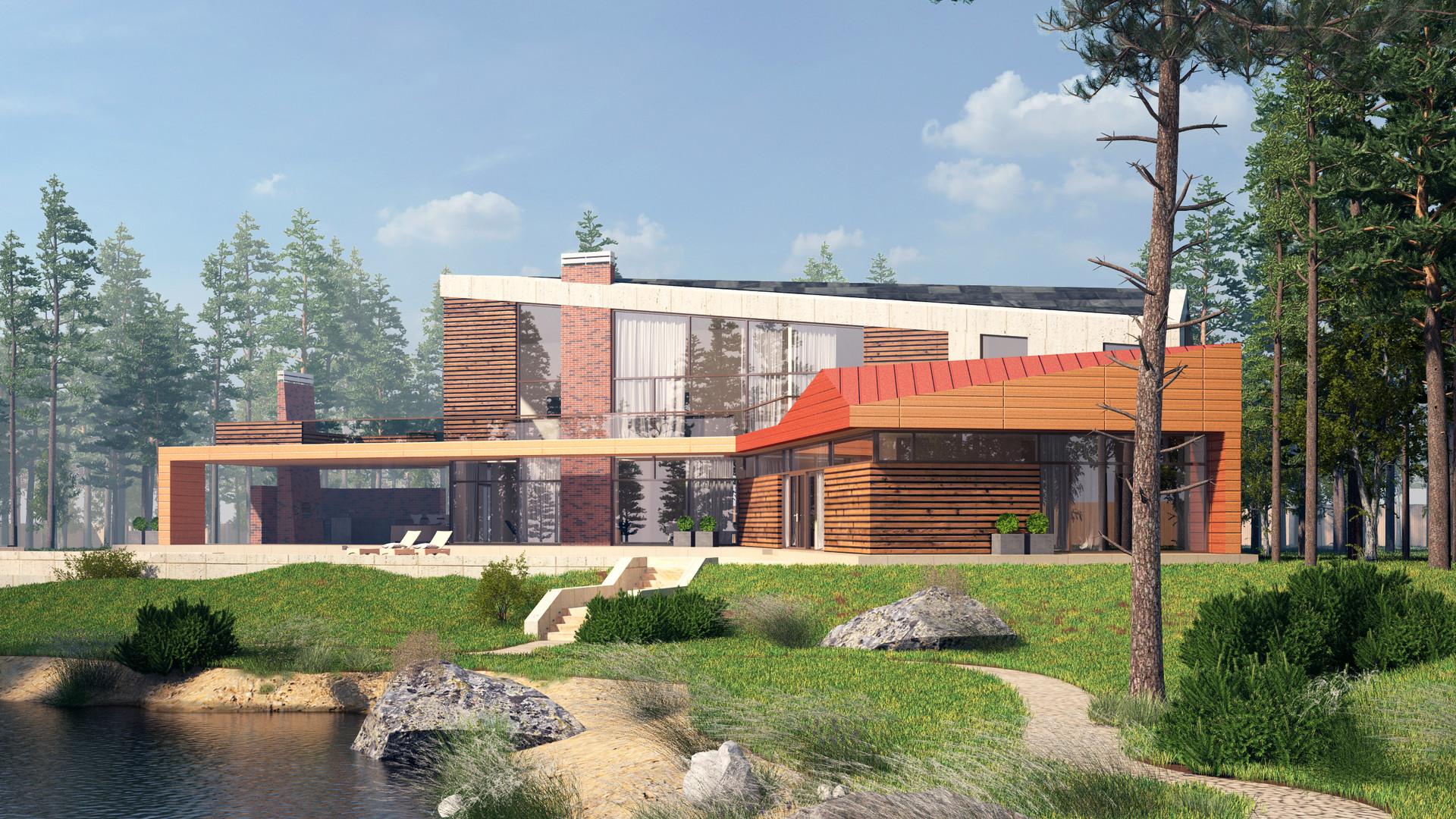Загородный дом в современном стиле