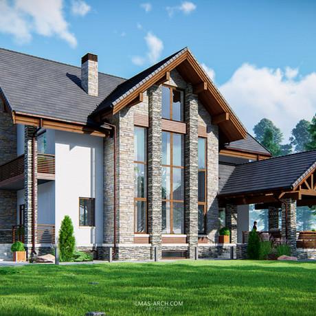 Дом в стиле Шале в пригороде Казани