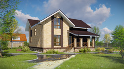 Проект дома с мансардой 4