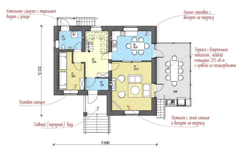 Проект 2-х этажного загородногодома