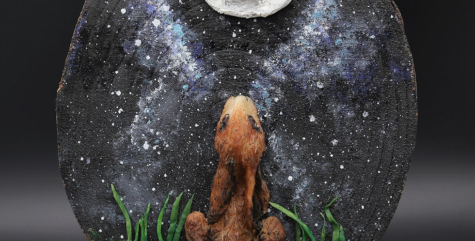 Moon gazing Bunny - SOLD