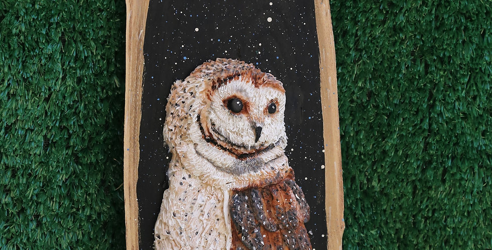 Crescent Moon Owl - SOLD