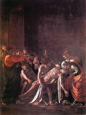 Resurrezione di San Lazzaro, Caravaggio,  Museo Regionale di Messina