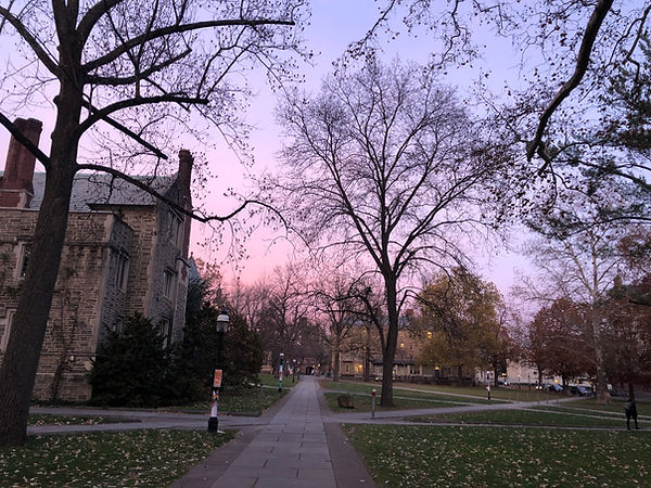 Princeton in purple - Madison Esposito - Evening Shot of courtyard between Blair Arch and Alexander Hall.