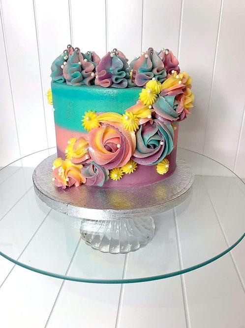 The Floral Mermaid Cake