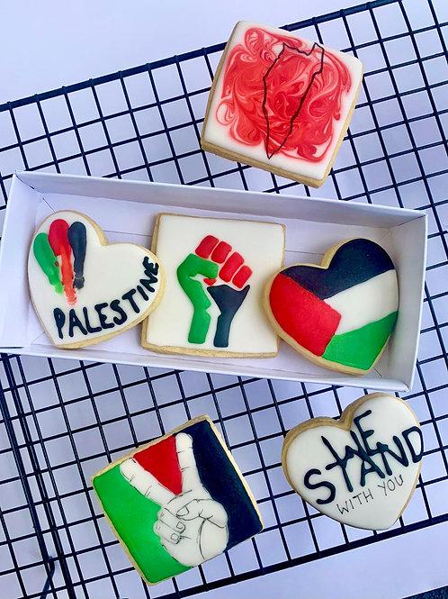 Palestine Cookie Box (Pack of 3)