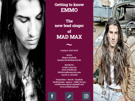 Getting to know EMMO, the new lead singer of MAD MAX