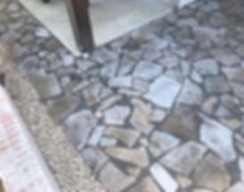 Gray flagstone  hardscape