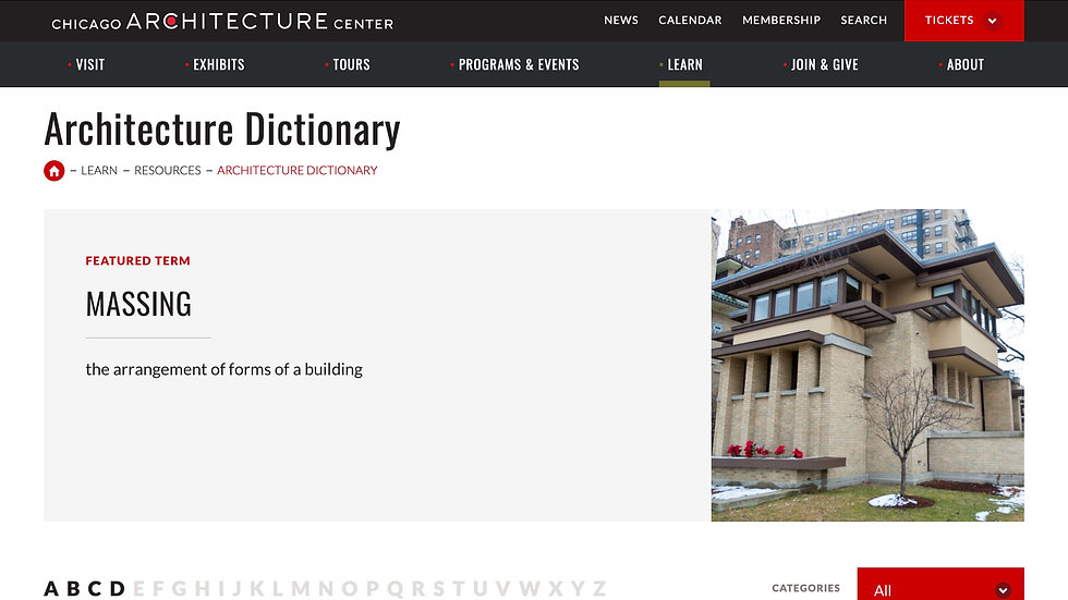Architecture & Design Visual Dictionary