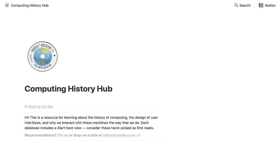 Computing History Hub