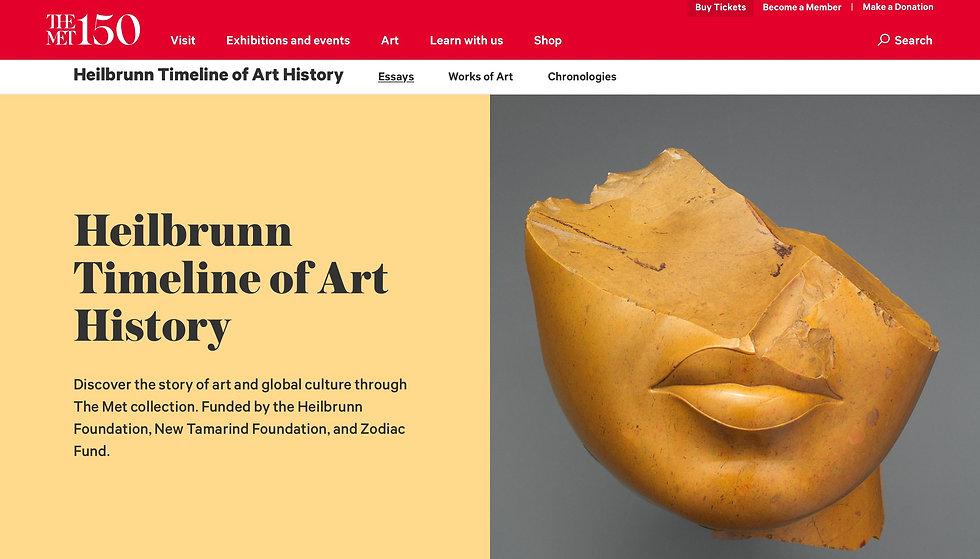 Helibrunn Timeline of Art History
