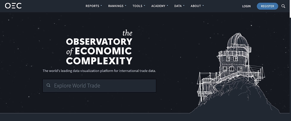 OEC - The Observatory of Economic Complexity