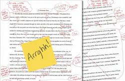 Having my work edited was grueling!
