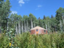 I live in a yurt.