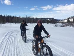 Always great to bike with friends.