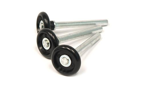 """Roller 2"""" Nylon 4"""" stem Black"""