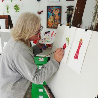 Lisa McGlinchey in her Geelong studio Ju