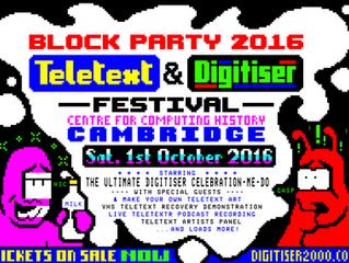 Teletext & Digitiser Festival Block Party 2016