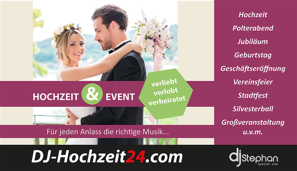 Deejay, Hochzeit, Musik, Event, DJ, Bad Kreuznach, Stephan, Messe