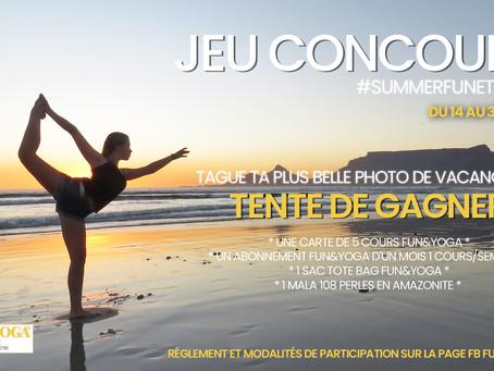 REGLEMENT DU CONCOURS PHOTOS ÉTÉ FUN&YOGA