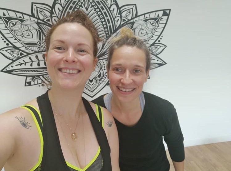 Ely Killeuse et Héloïse de Fun&Yoga Orlénas