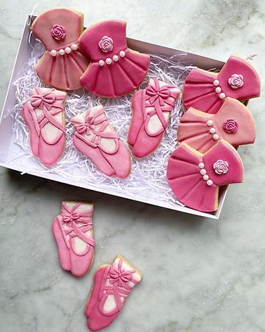 Ballerina ballet tutu shoes biscuits