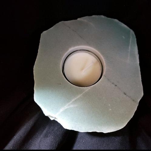 Polished Top Green Quartz Candleholder
