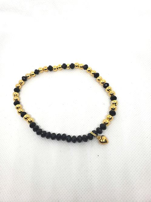 Black Golden Anklet