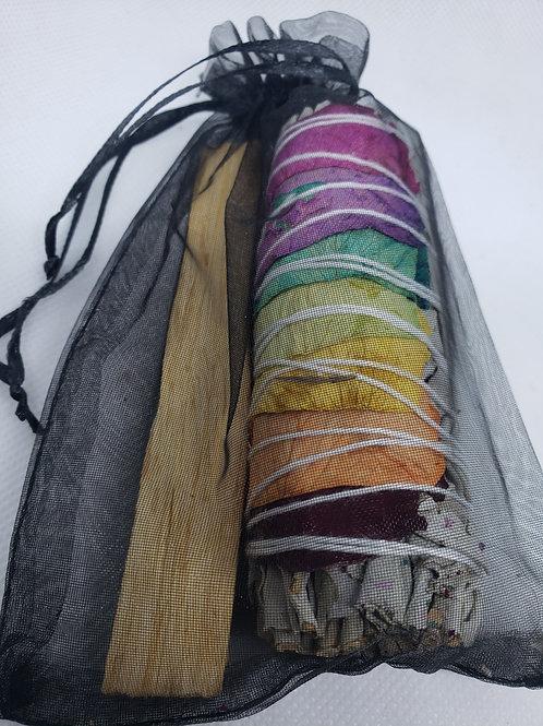Chakra White Sage and Palo Stick