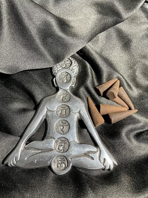 7 Chakra Incense Holder w/Incense
