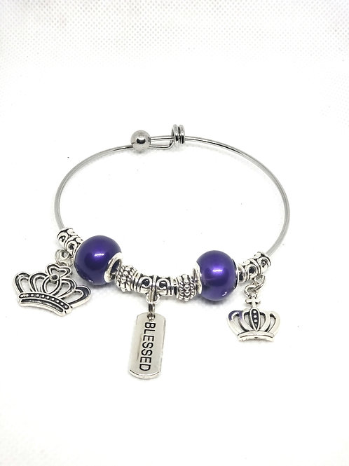 Blessed Queen Purple Bangle
